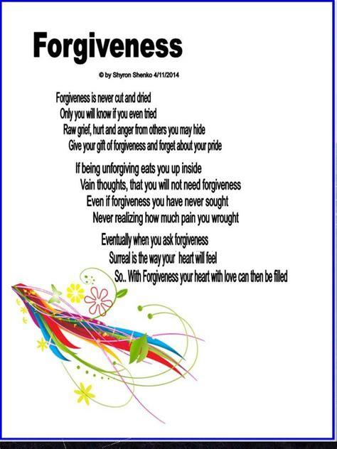 Asking For Forgiveness Poem