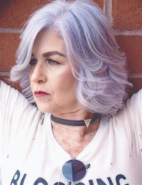 purple hair middle age women 50 modern haircuts for women over 50 with extra zing