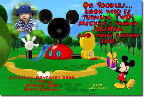 mickey mouse clubhouse invitations template gallery of amazing