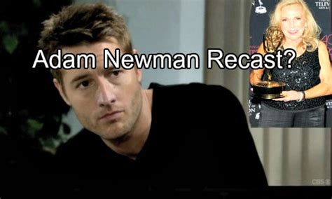 whos leaving young and restless the young and the restless spoilers adam newman recast
