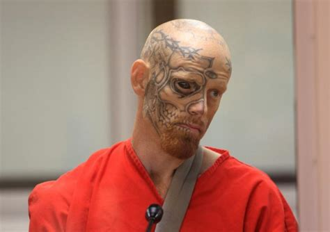 man with tattooed eyeball gets 22 years for shooting cops