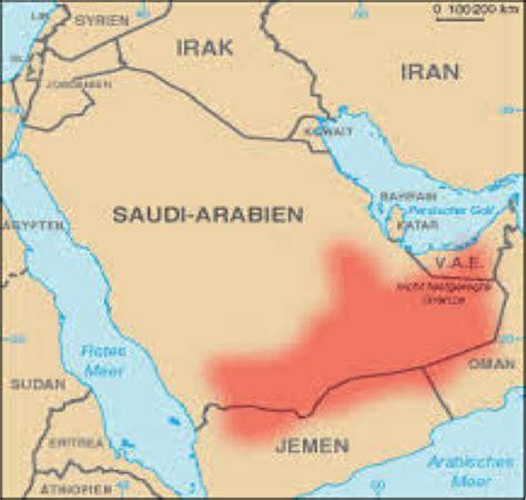 middle east map rub al khali desert rub al khali map my