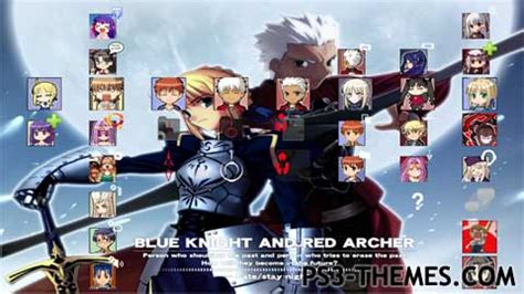 theme psp fate stay night ps3 themes 187 fate stay night