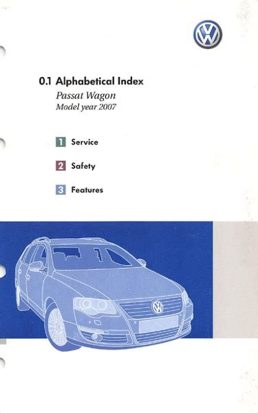 free download parts manuals 2007 volkswagen passat on board diagnostic system 2007 volkswagen passat wagon owners manual in pdf
