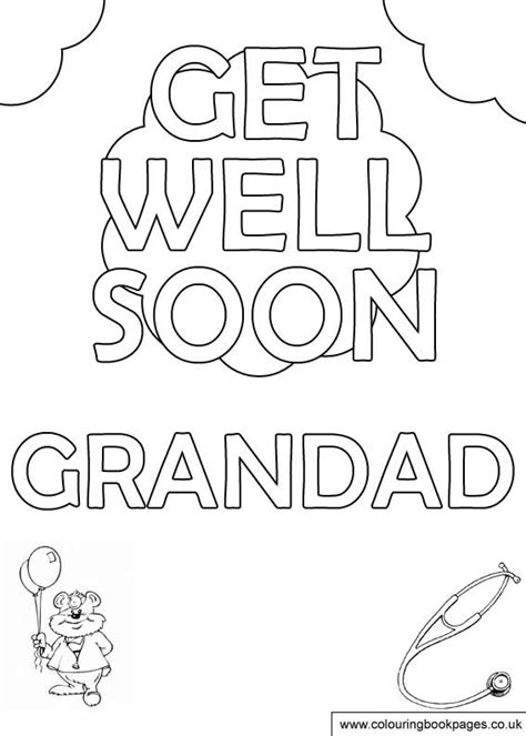 coloring pages that say get well soon free get well soon colouring pages