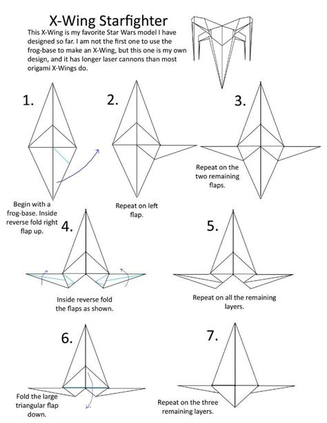 How To Make A Paper X Wing Fighter - wars x wing origami origami