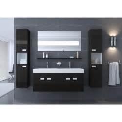 alpos salle de bain compl 232 te 120 cm noir brillant achat