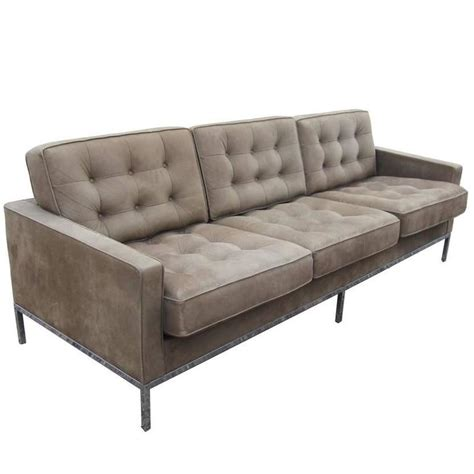 Florence Leather Sofa Florence Knoll Brown Leather Sofa For Sale At 1stdibs