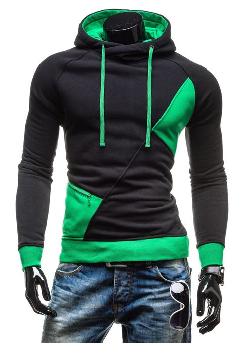 Patchwork Hoodies - 2016 new fashion patchwork slim hoodies brand sports