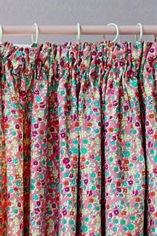 buy ditsy floral pencil pleat blackout curtains from the