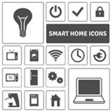 smart home automation technology icons set stock vector