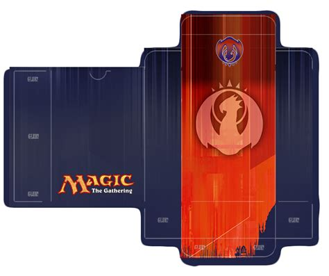Magic Card Box Template by Izzet Guild Deckbox Template By Lumberjacksquid Magic