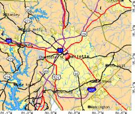 charlotte, north carolina (nc) profile: population, maps