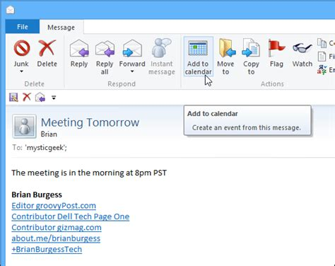 Add Calendar To Email Time Saver Easily Move Messages To Your Calendar