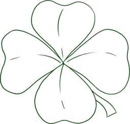 three leaf clover coloring page free coloring pages on