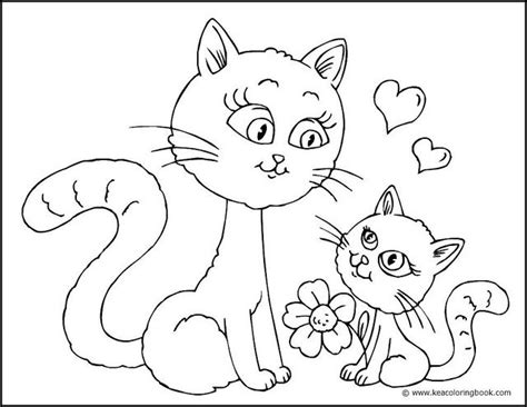 mama cat coloring page kitten and mother cat coloring page flickr photo