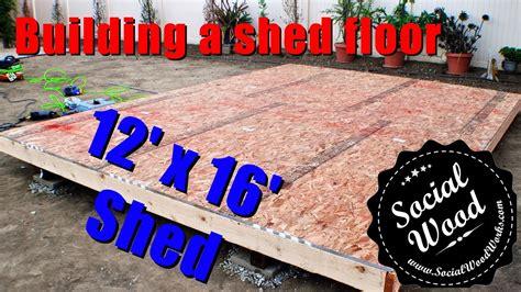 build  shed   frame  shed floor youtube