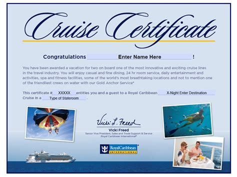 royal caribbean gift certificate template lamoureph blog - Royal Caribbean Gift Card