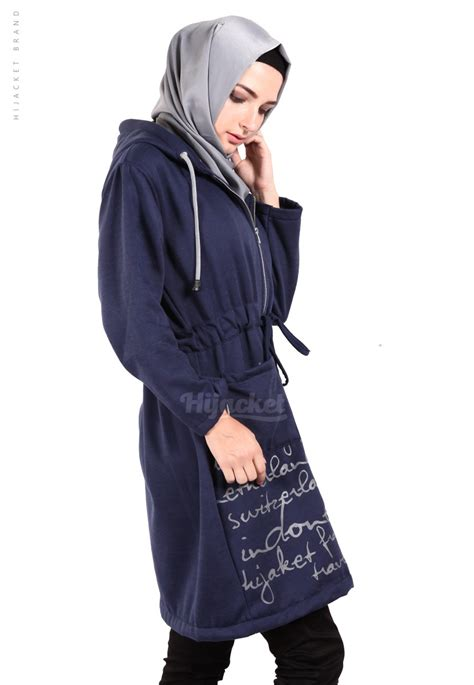 Jaket Hijaber Hijacket Urbanashion Hj Ub Royal Blue Navy Original 3 jaket hijaber urbanashion royal blue hijacket jaket muslimah distro beda