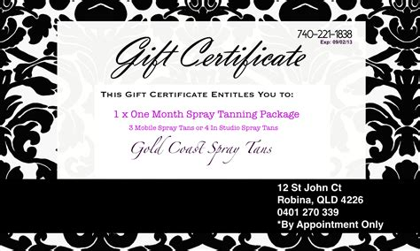 fillable gift certificate template free the best and