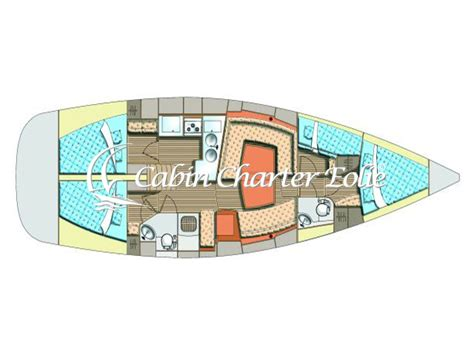 cabin charter eolie elan 434 cabin charter eolie