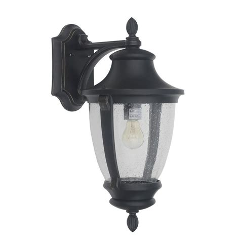 Black Light Outdoor Home Decorators Collection Wilkerson 1 Light Black Outdoor