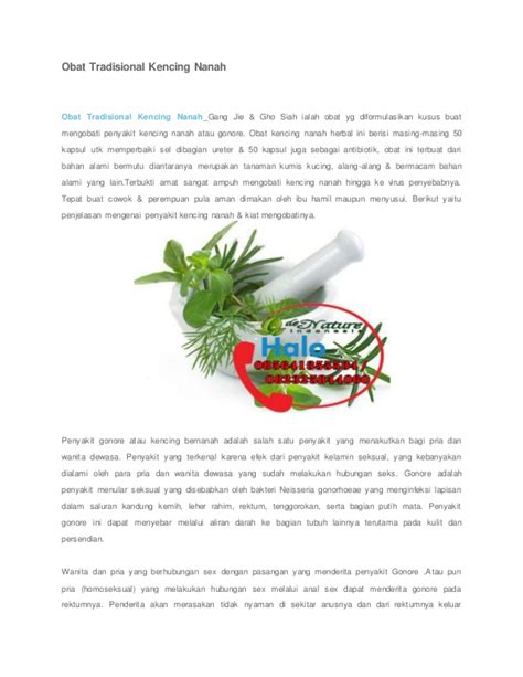 Obat Kencing Nanah Jie obat tradisional kencing nanah