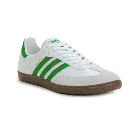 adidas white sneaker lyst adidas leather samba sneakers in white for
