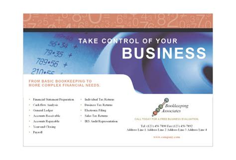 Free Template Business Cards For Bookkeeping Services by Bookkeeping Accounting Services Print Template From Serif