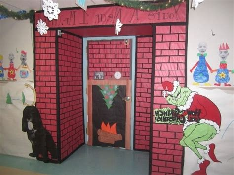 ideas for christmas door decorations teachers