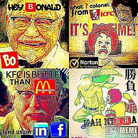 Reddit Deep Fried Memes - kfc vs mc onalds deepfriedmemes