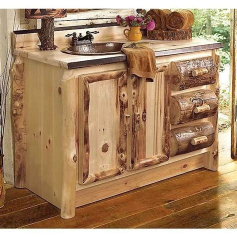 Rustic Vanities For Bathrooms Rustic Bathroom Vanities Home Decor Pinterest