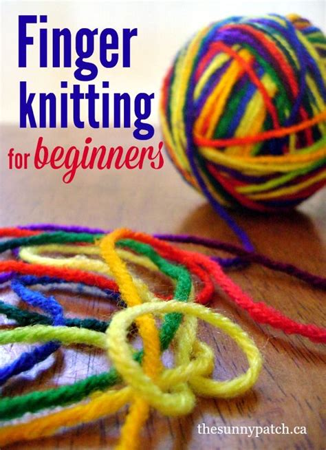 finger knit projects 17 best ideas about finger knitting on finger