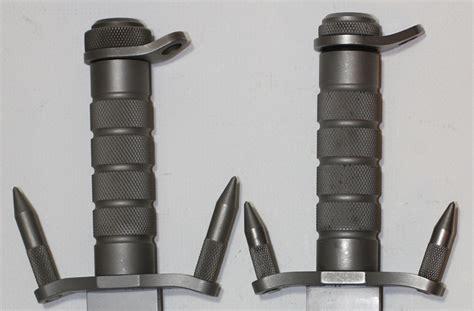 survival knife comparison buck 184 buckmaster spikes pommel comparison
