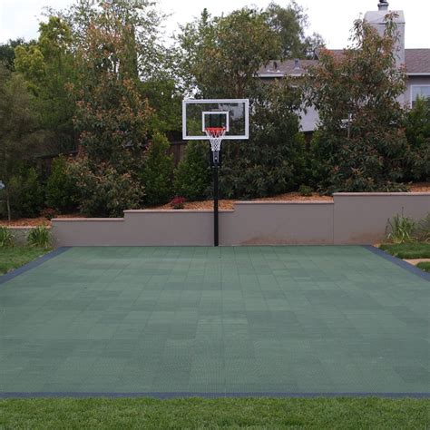 Sport Court and basketball hoop