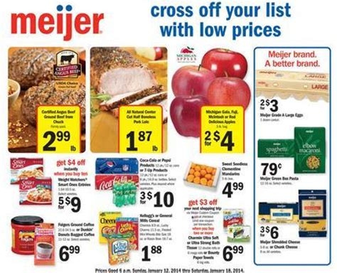 meijer weekly coupon matchups 1/12 – 1/18 (or 1/16 – 1/22)