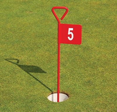 backyard putting green flags red aluminium putting green flag range solutions