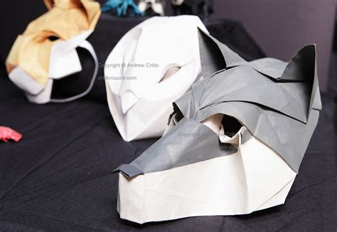 Origami Mask - origami wolf mask by chad killeen papercraft