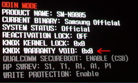 reset samsung knox samsung telefonda garanti problemi knox warranty void