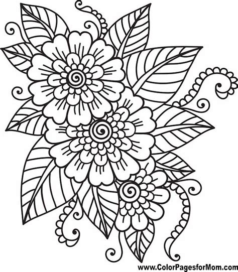 easy coloring pages to print for adults printable adult coloring pages flowers easy printable