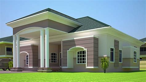 4 bedroom storey building plan in house style and