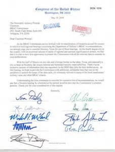 Request For Consideration Letter Sle Letter From Congressmen From To Commissioner Principi Request For Regional Hearing