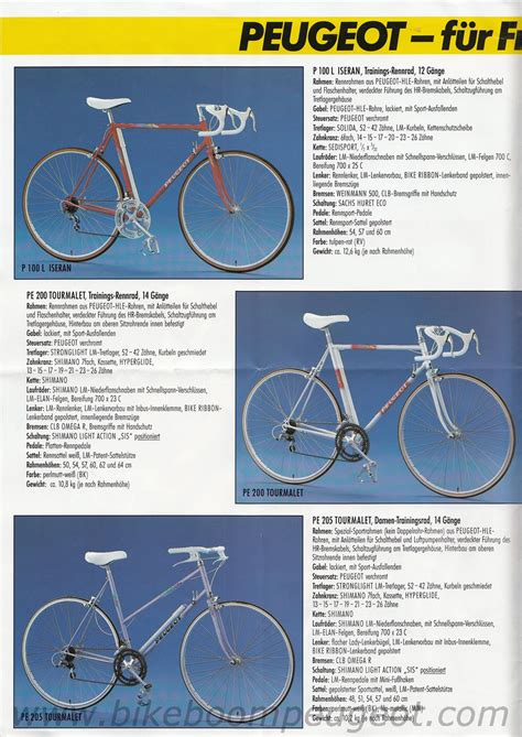 peugeot germany peugeot 1990 germany brochure