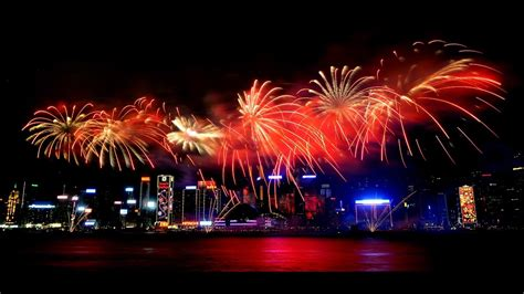 happy new year in hong kong fireworks view in hong kong on happy new year 2017 by