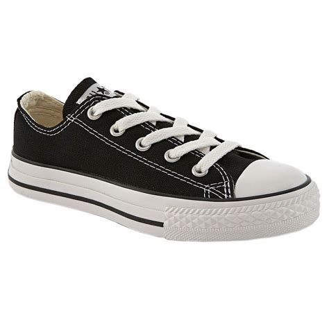 Converse Low With Box converse chuck black white low top canvas for