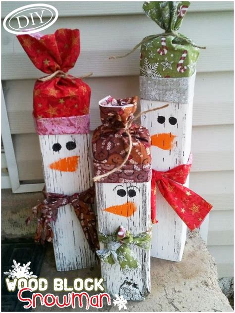 simple craft for christamas celebrationo diy wood block snowman top easy craft design for on reversible fall and