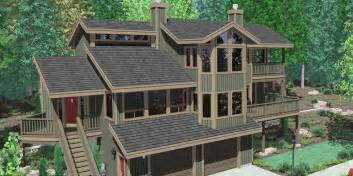 view house plans sloping lot house plans multi level house plans loon lake linwood custom homes