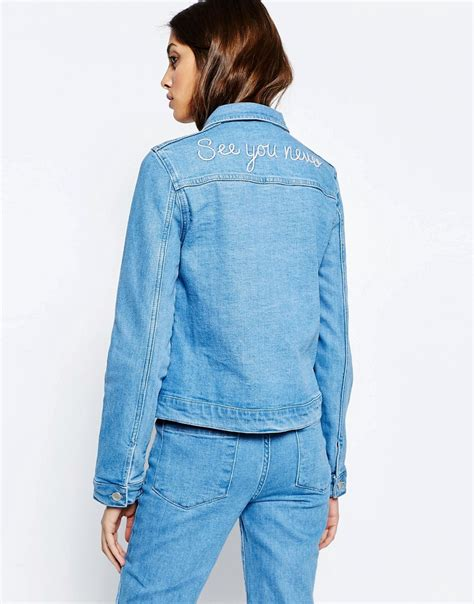 see you never denim see you never embroidered back denim