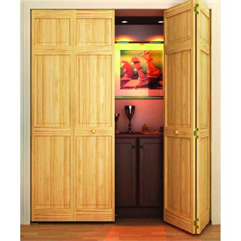 Solid Wood Bifold Closet Doors Home Depot Unfinished Closet Doors Roselawnlutheran