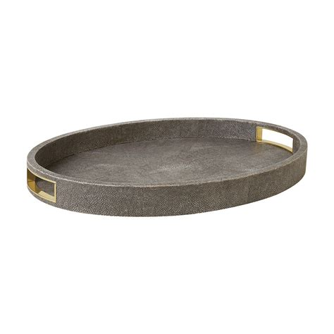 Oval Tray buy aerin shagreen oval tray chocolate amara